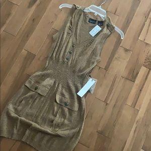 Brown Button Dress